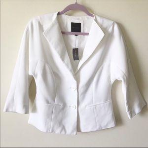 The Limited || NWT White Dolman Blazer Size S